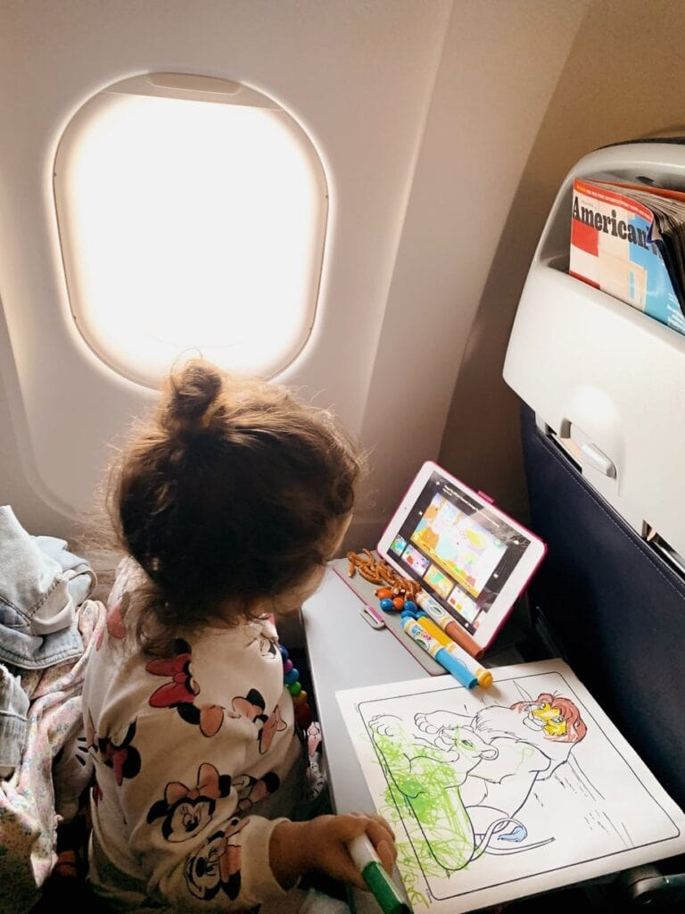 First flight with a toddler
