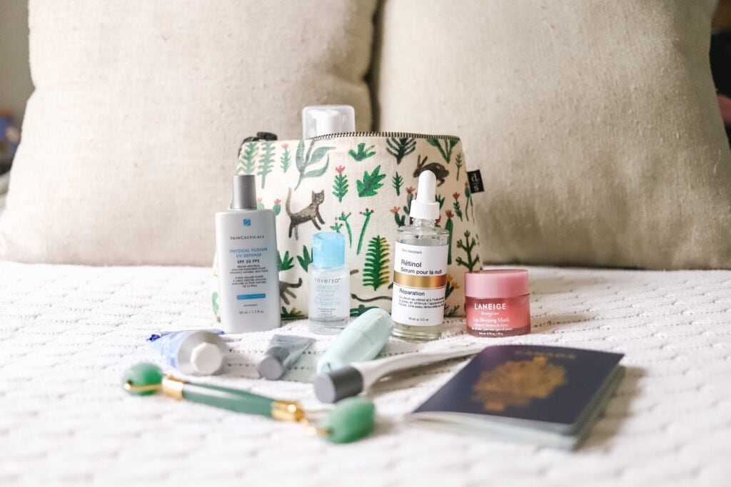 skincare for travel