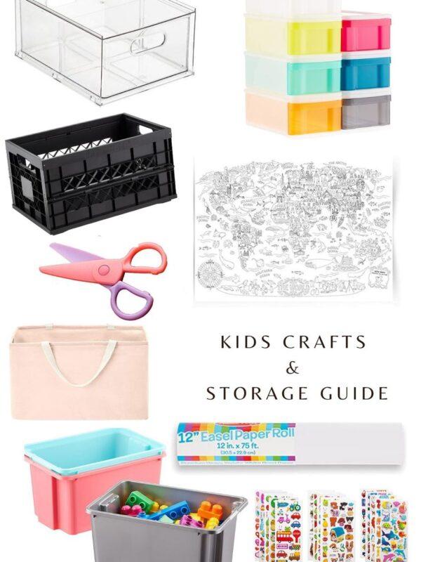 kids crafts and storage ideas