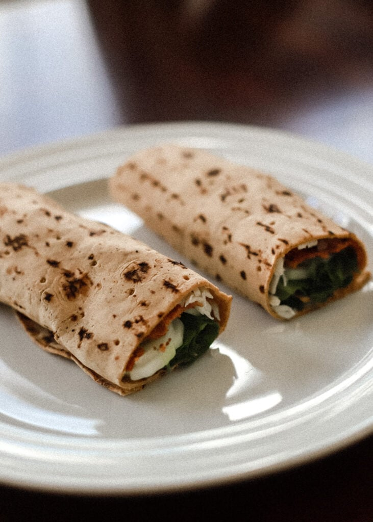 TLT Turkey Lettuce Tomato Protein Wrap recipe for losing weight