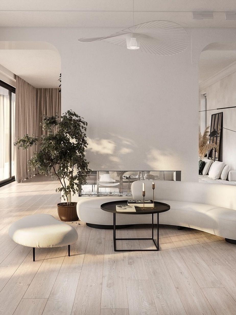 Tone on Tone Living Room Design