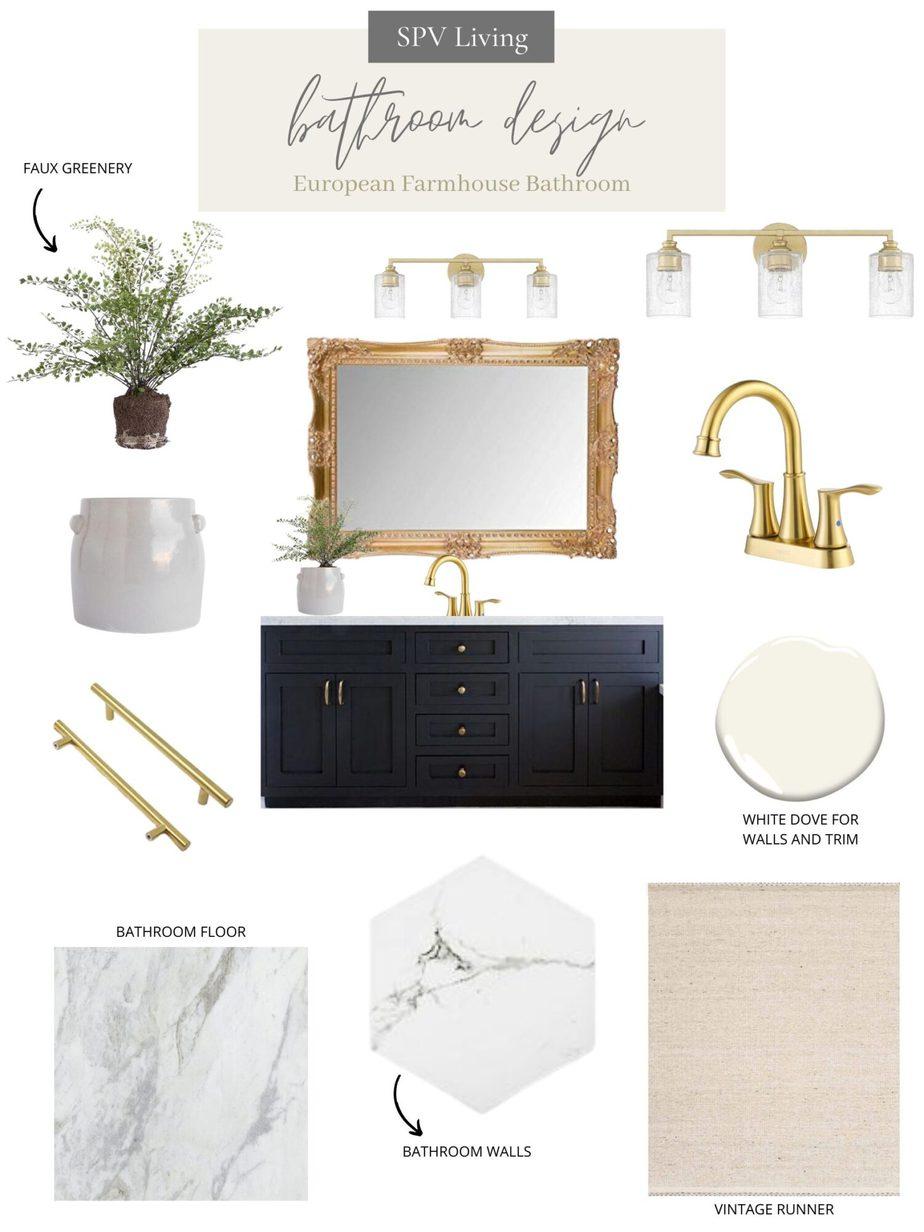 Design Inspiration: European Farmhouse Bathroom