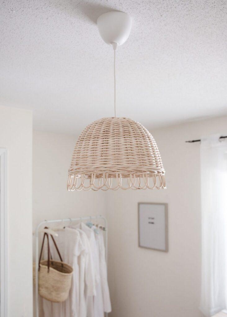 Easy DIY Basket Light Fixture