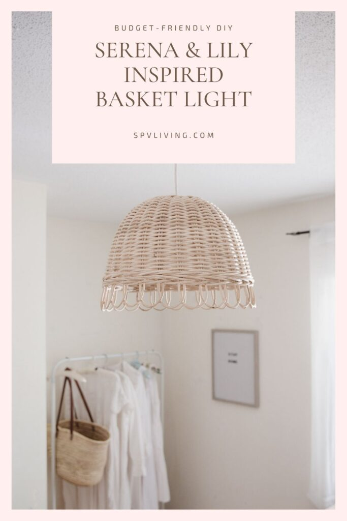 DIY Basket Light Fixture