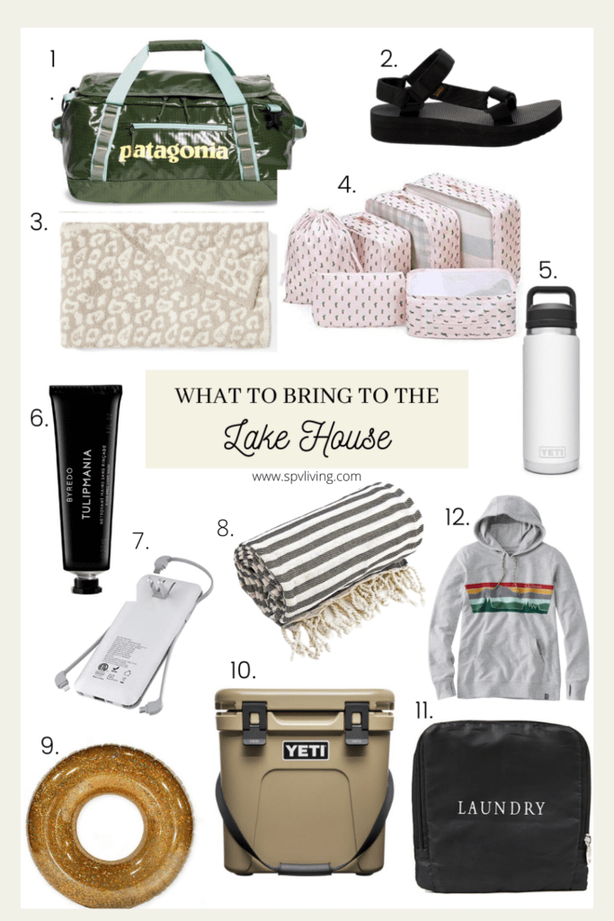 what to bring to the lake house