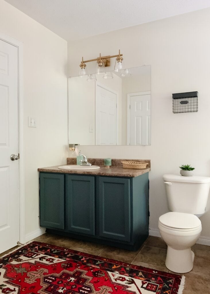 how to paint honey oak bathroom cabinets without sanding them