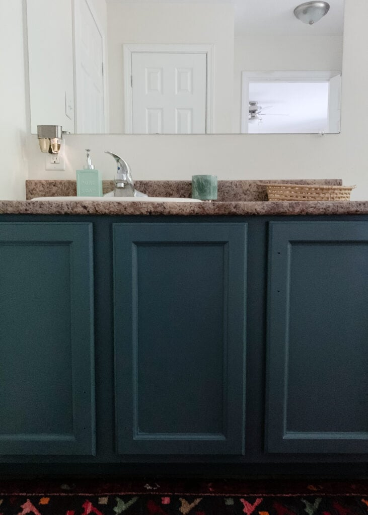 How To Paint Honey Oak Bathroom Cabinets Without Sanding Them Spv Living