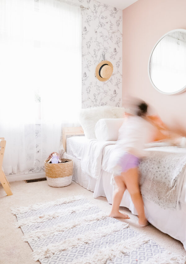 Pink Toddler Bedroom Reveal