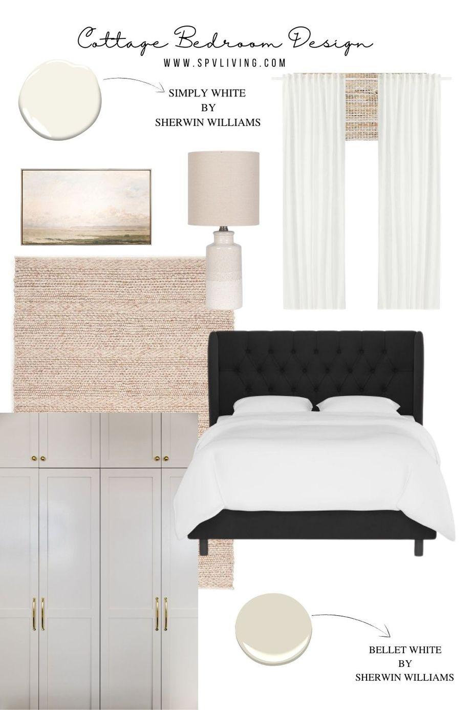 Cottage Bedroom Design –  Mood board