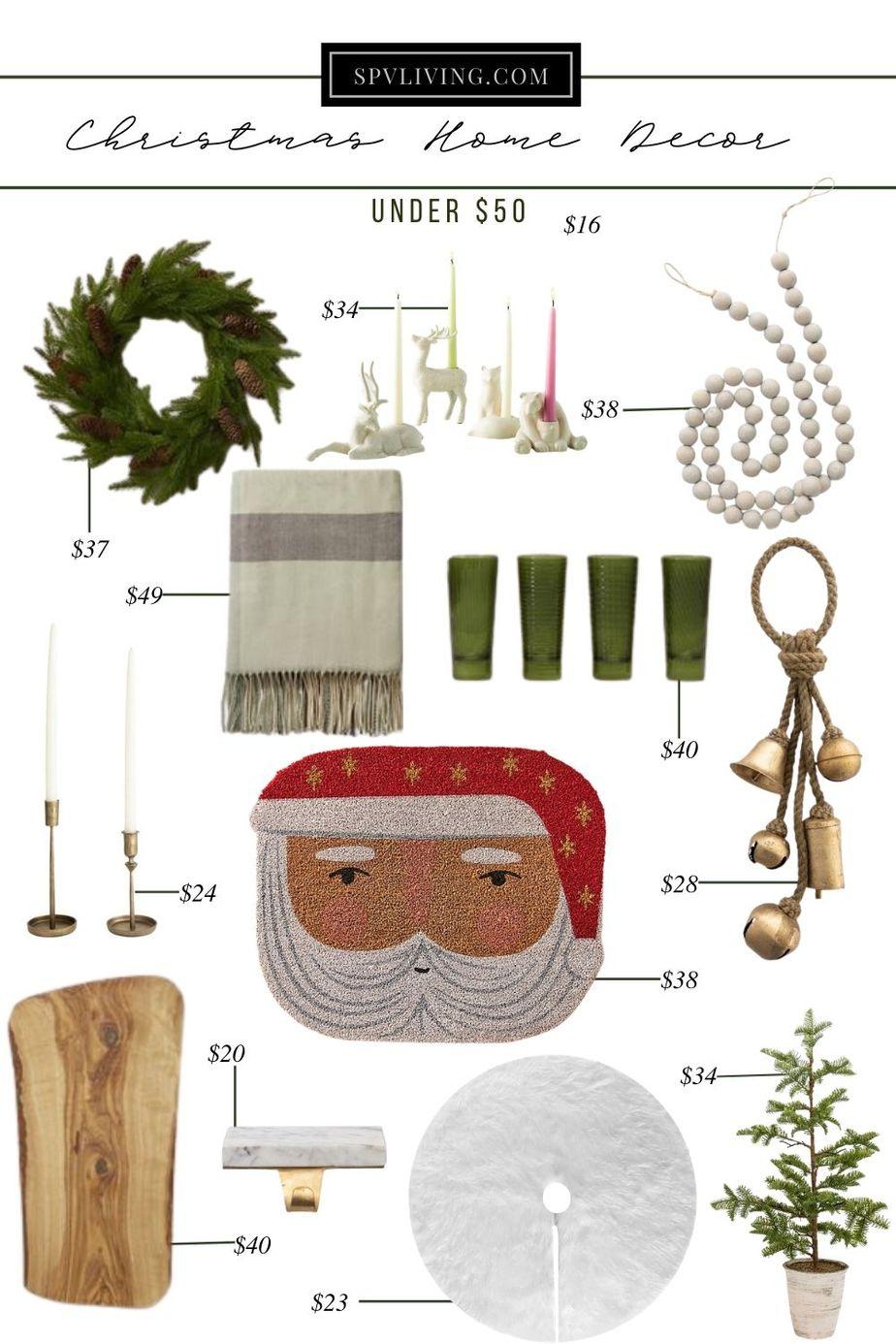 Christmas Home Decor under $50
