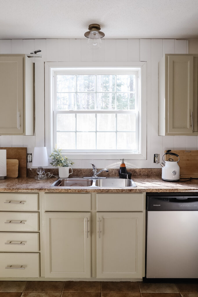 Easy Kitchen update with a new Glacier Bay Faucet