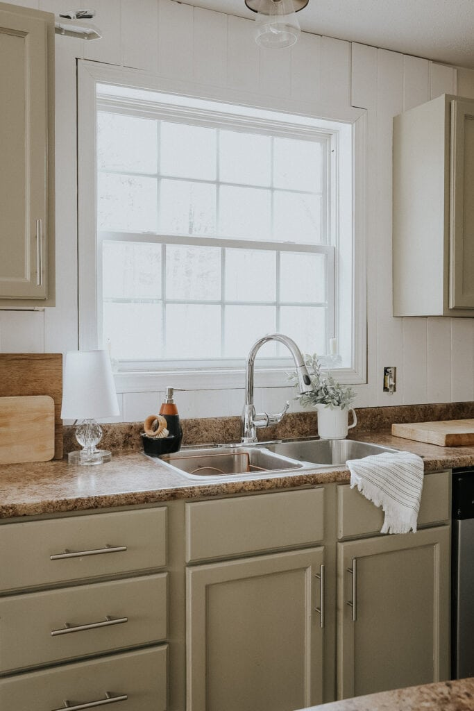 Review of the new Glacier Bay Faucet and how to update your old kitchen!