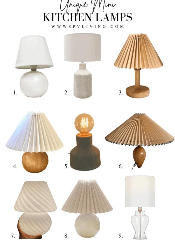 9 Unique Tiny Kitchen Lamps