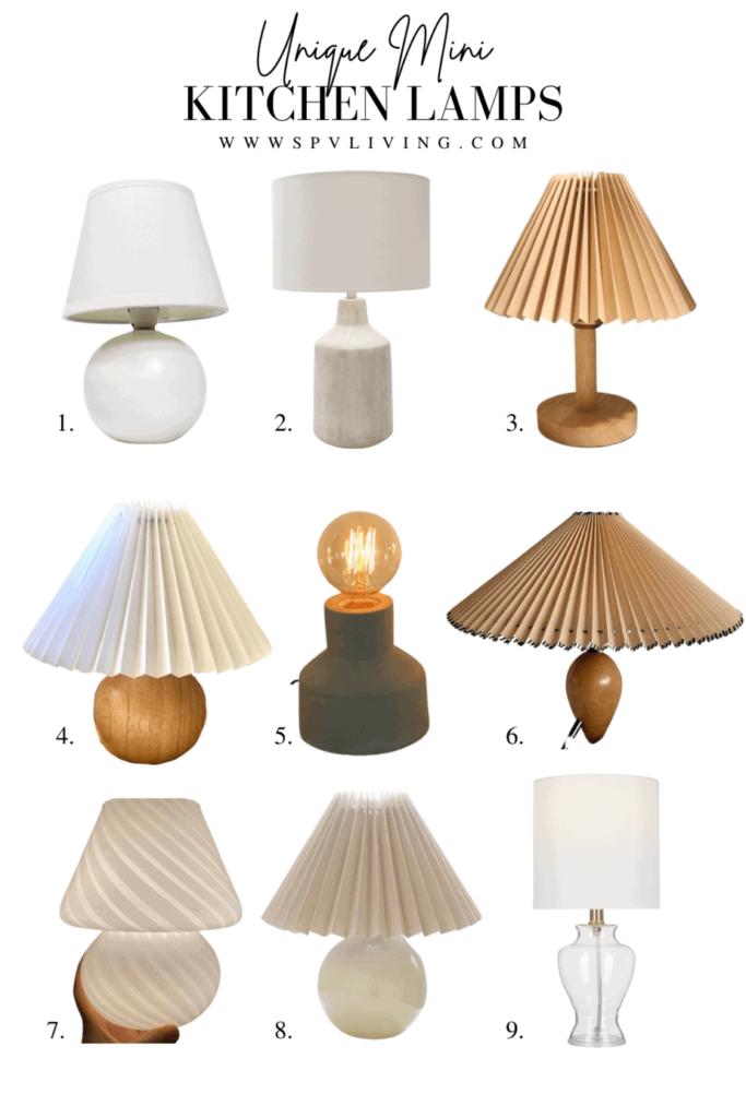 9 Unique Mini Kitchen Lamps