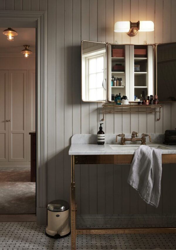Moody French Cottage Bathroom Paint Colours