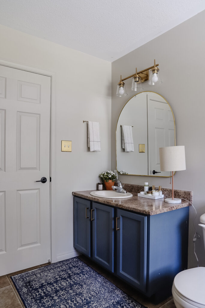 bathroom makeover and renovation on a budget of $450