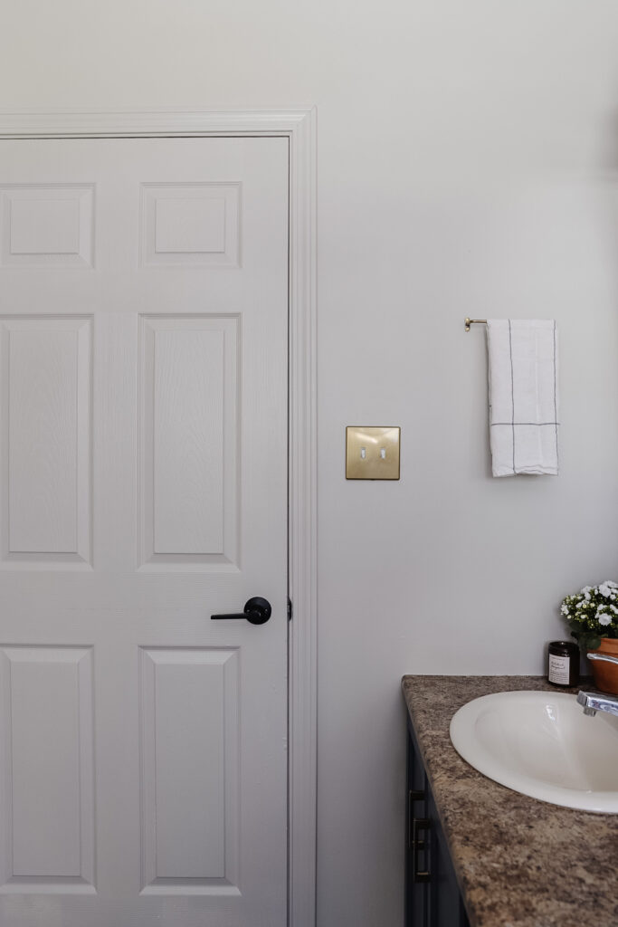 gold bathroom accents
