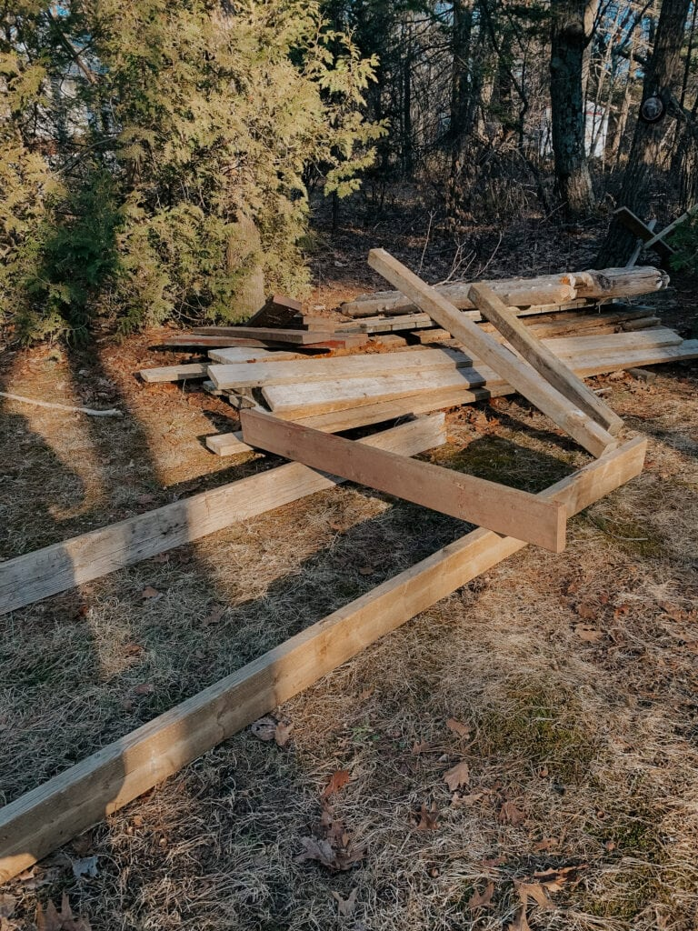 simple DIY raised garden bed