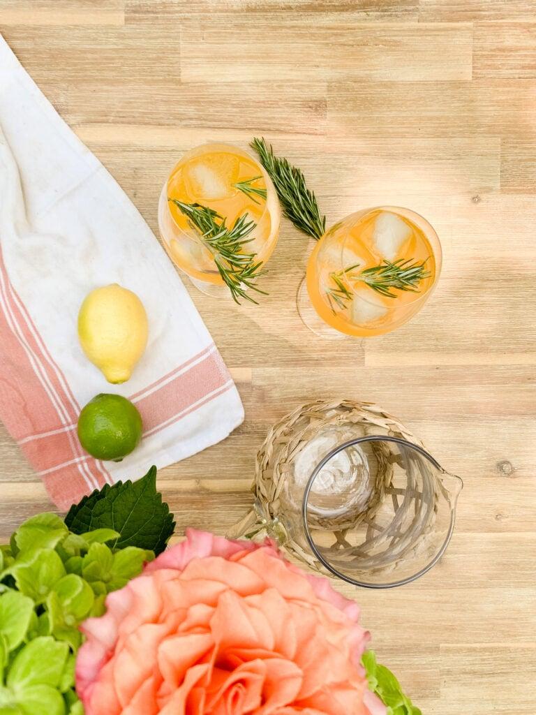 The BEST Summer Peach Mocktail