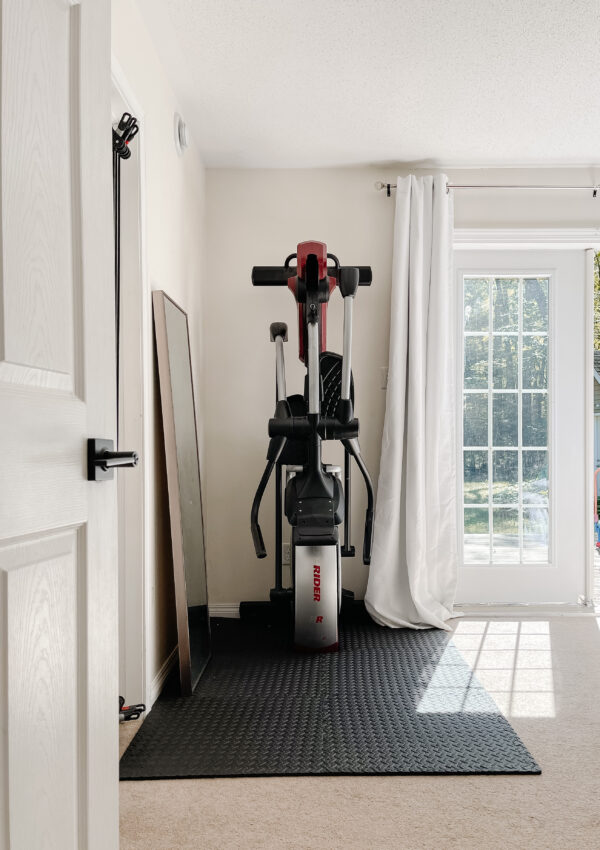 Is it possible to make a small home gym look good in a bedroom?